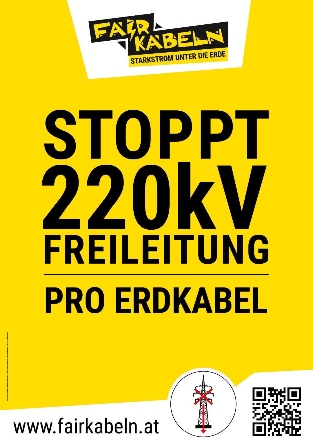 Stoppt 220kV Freileitung